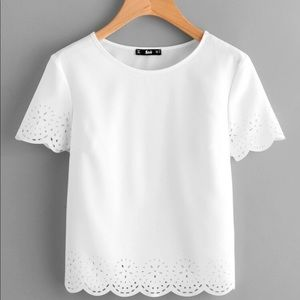 Laser Cut Scalloped Top